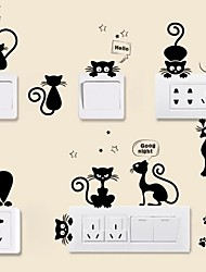 cheap -Animals Wall Stickers Plane Wall Stickers Light Switch Stickers, Vinyl Home Decoration Wall Decal Wall / Switch Decoration 1pc / Removable 25*70CM