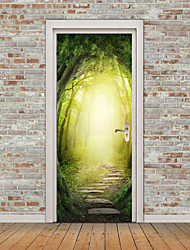 cheap -Landscape Still Life Wall Stickers Plane Wall Stickers 3D Wall Stickers Decorative Wall Stickers Door Stickers, Vinyl Home Decoration
