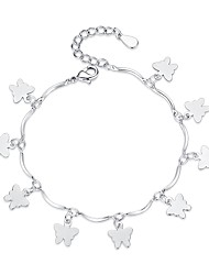 cheap -Women's Charm Bracelet Butterfly Ladies Sweet Fashion Alloy Bracelet Jewelry Silver For Gift Daily