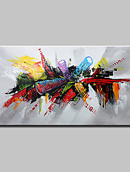 cheap -Oil Painting Hand Painted Horizontal Abstract Pop Art Modern Stretched Canvas
