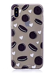 cheap -Case For Apple iPhone XS / iPhone XR / iPhone XS Max Translucent Back Cover Food Soft TPU