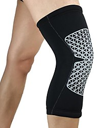 cheap -Knee Brace for Running Racing Basketball Impact Resistant Non Slip Lycra Spandex 1 pc Sports & Outdoor Black White Yellow