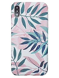 cheap -Case For Apple iPhone X / iPhone 8 Plus / iPhone 8 Ultra-thin Back Cover Plants / Tree Hard PC