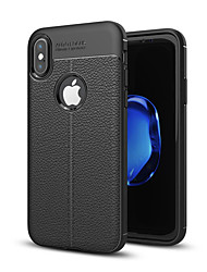 cheap -Case For Apple iPhone X / iPhone 8 Plus / iPhone 8 Shockproof Back Cover Solid Colored Soft TPU