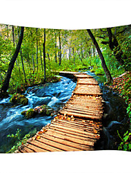 cheap -Wall Tapestry Art Decor Blanket Curtain Picnic Tablecloth Hanging Home Bedroom Living Room Dorm Decoration Nature Landscape Forest Pathway River