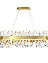 cheap -1-Light 100 cm Crystal Pendant Light Gold Eye Protection Chandelier Metal Painted Finishes LED Chic & Modern 110-120V 220-240V