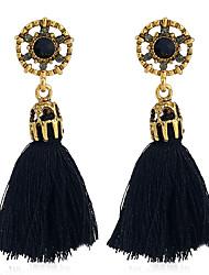 cheap -Women's Drop Earrings Dangle Earrings Tassel Ladies Tassel Vintage Bohemian Boho Earrings Jewelry Black / Gray / Red For Party / Evening Masquerade