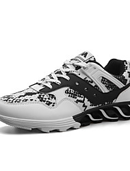 cheap -Men's Comfort Shoes PU Spring / Fall Athletic Shoes Running Shoes Slip Resistant White / Black / Red / Lace-up