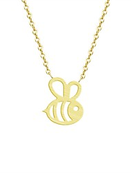 cheap -Women's Pendant Necklace Bee Ladies Fashion Alloy Gold Silver Necklace Jewelry For Daily Work