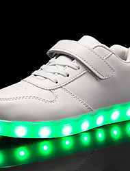 cheap -Boys / Girls USB Charging  LED / Comfort / LED Shoes Leatherette Sneakers Little Kids(4-7ys) / Big Kids(7years +) Walking Shoes Lace-up / Hook & Loop / LED Black / White / Red Spring