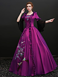 cheap -Fairytale Renaissance Dress Outfits Party Costume Masquerade Women's Costume Purple Vintage Cosplay Party Prom 3/4 Length Sleeve Ball Gown Plus Size Customized