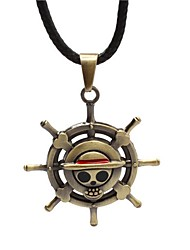 cheap -Men's Pendant Necklace Mexican Sugar Skull Skull Classic Fashion Steampunk Alloy Gold Silver Necklace Jewelry For Daily