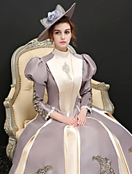 cheap -Duchess Rococo Dress Party Costume Ball Gown Women's Lace Costume Rainbow Vintage Cosplay Party Prom 3/4 Length Sleeve Ball Gown Plus Size Customized