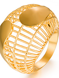 cheap -Women's Band Ring Gold Gold Plated Yellow Gold Geometric Ladies Fashion Wedding Gift Jewelry
