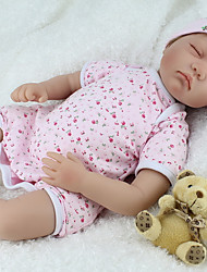 cheap -NPK DOLL Reborn Doll Baby 22 inch Silicone Vinyl - Newborn lifelike Cute Hand Made Child Safe New Design Kid's Unisex Toy Gift / Natural Skin Tone / Floppy Head / Tipped and Sealed Nails / Non Toxic