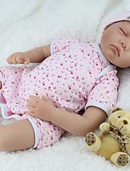 Недорогие -NPK DOLL Куклы реборн Дети 22 дюймовый Силикон Винил - Новорожденный как живой Милый стиль Ручная работа Безопасно для детей Новый дизайн Детские Универсальные Игрушки Подарок / Естественный тон кожи