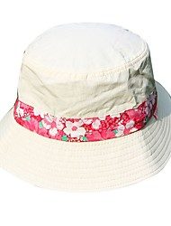 cheap -Hiking Hat Bucket Hat Sunscreen UV Resistant Breathable Floral / Botanical Cotton Summer for Men's Women's Fishing Hiking Outdoor Exercise White
