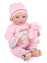 cheap -NPK DOLL Reborn Doll Baby Girl 14 inch Silicone Vinyl - Newborn lifelike Cute Hand Made Hand Applied Eyelashes Tipped and Sealed Nails Kid's Unisex Toy Gift / Natural Skin Tone / Floppy Head