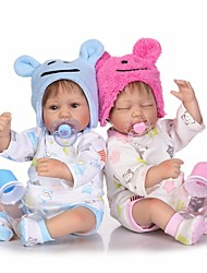 cheap -NPKCOLLECTION NPK DOLL Reborn Doll Girl Doll Baby Girl 16 inch Silicone - Newborn lifelike Cute Child Safe Non Toxic Hand Applied Eyelashes Kid's Unisex / Girls' Toy Gift