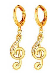 cheap -Women's Hoop Earrings Ladies Sweet Gold Plated Earrings Jewelry Gold / Silver For Evening Party Prom Promise