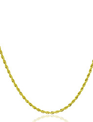 cheap -Men's Women's Chain Necklace Rock Fashion Copper Gold Necklace Jewelry 1pc For Gift Daily