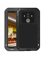 cheap -Case For Huawei Mate 10 pro Water / Dirt / Shock Proof Full Body Cases Solid Colored Hard Metal