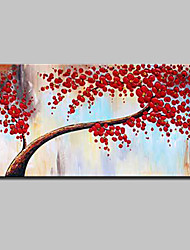 cheap -Mintura® Hand-Painted Rich Trees Oil Painting On Canvas Modern Abstract Flower Wall Art Pictures For Home Decoration Ready To Hang