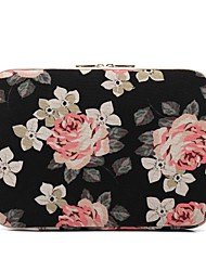 "cheap -11.6"" 13.3"" 14"" 15.6"" Laptop Sleeves Canvas Floral Print for Macbook/Surface/HP/Dell/Samsung/Sony Etc"