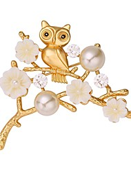 cheap -Women's Brooches Animal Ladies Sweet Brooch Jewelry Silver Golden For Daily Date