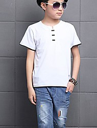 cheap -Toddler Boys' Active Daily Solid Colored Split Half Sleeve Regular Cotton Tee White