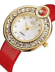 Недорогие -ASJ Жен. Повседневные часы Модные часы Diamond Watch Японский Кварцевый Стеганная ПУ кожа Черный / Красный 30 m Повседневные часы Аналоговый Дамы Мода минималист - / Два года / Два года / SSUO 377