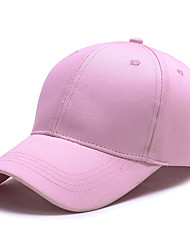 cheap -Unisex Active Acrylic Baseball Cap-Solid Colored Split Summer Blushing Pink Red White / Cute / Fabric