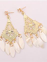 cheap -Women's Drop Earrings Tassel Chandelier Ladies Tassel European Fashion Resin Earrings Jewelry Gold For Party