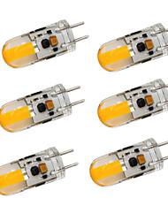 cheap -6pcs 2 W LED Bi-pin Lights 350-380 lm GY6.35 T 1 LED Beads COB Dimmable Warm White Cold White 12-24 V