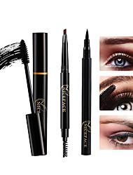 abordables -Mascara Crayon Gel Eyeliner Crayon à paupières Imperméable Niveau professionnel Portable 3 pcs Maquillage Sec Une Couleur Cosmétique Accessoires de Toilettage