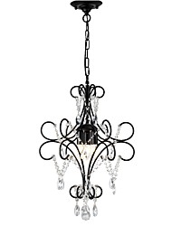 cheap -LightMyself™ 3-Light 42 cm Chandelier Metal Painted Finishes Artistic / Traditional / Classic 110-120V / 220-240V