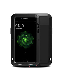 cheap -Case For OPPO OPPO R9s Plus Water / Dirt / Shock Proof Full Body Cases Solid Color Hard Metal