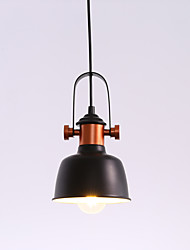 cheap -1-Light Vintage Industrial Style Loft Pendant Lights Black Metal Shade Bars Kitchen Dining Room Lamp