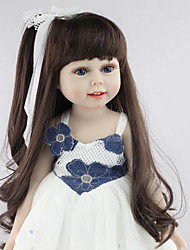 cheap -NPKCOLLECTION 18 inch NPK DOLL Reborn Doll Girl Doll Baby Girl Newborn lifelike Cute Child Safe Non Toxic Silicone with Clothes and Accessories for Girls' Birthday and Festival Gifts