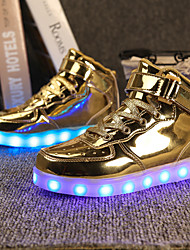 cheap -Men's Light Up Shoes PU Spring & Summer LED / Casual Sneakers Gold / Silver
