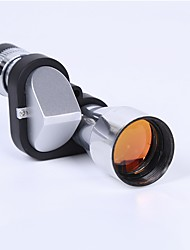 cheap -8 X 20 mm Monocular Lenses Portable BAK7 Camping / Hiking / Caving Everyday Use Multifunction Chrome