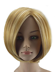 cheap -Synthetic Wig Straight Straight Bob Wig Blonde Short Blonde Synthetic Hair Women's Highlighted / Balayage Hair Blonde hairjoy