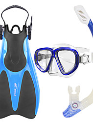 cheap -WHALE Snorkeling Set Diving Package - Diving Mask Diving Fins Snorkel - Dry Top Long Blade Swimming Diving Silicone Glass Rubber  For  Adults