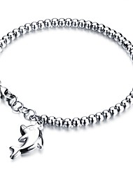 cheap -Women's Charm Bracelet Dolphin Ladies Rock Sweet Titanium Steel Bracelet Jewelry Silver / Rose Gold For Wedding Graduation / Steel Stainless