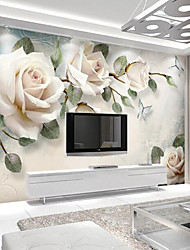 cheap -Light Pink Rose Custom 3D Large Wall Covering Mural Wallpaper Fit Restaurant Tv Background Flower