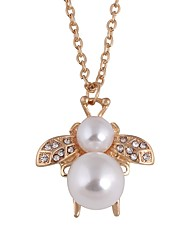 cheap -Women's Pendant Necklace Bee Dainty Ladies Vintage Fashion Alloy Gold Necklace Jewelry For Daily Office & Career