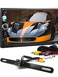Недорогие -2 din 7-дюймовый bluetooth v2.0 автомобиль аудио-видео автомобиль dvd mp5-плеер с 4led ccd камера заднего вида камеры