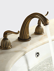 cheap -1279 Sprinkle® Sink Faucets - Antique Antique Brass Widespread Three Holes