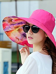 cheap -Women's Sun Hat Canvas Basic - Color Block Comfortable Spring Summer Blue Fuchsia Khaki