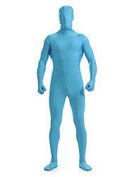 cheap -Zentai Suits Skin Suit Full Body Suit Ninja Adults' Spandex Lycra Cosplay Costumes Men's Women's Blue Solid Colored Halloween Masquerade